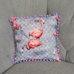 Flamingós díszpárna