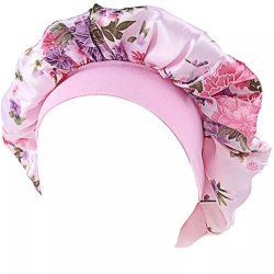 Rózsaszín szatén hálósapka