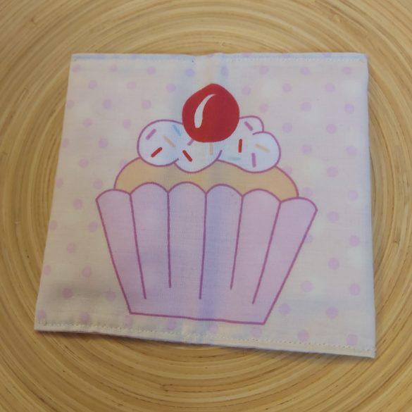 Muffin mintás papírzsebkendő tartó