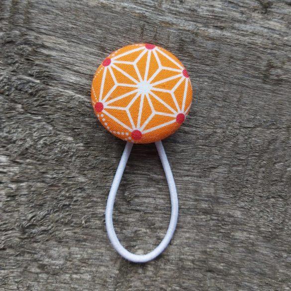 Narancssárga mintás gomb hajgumi