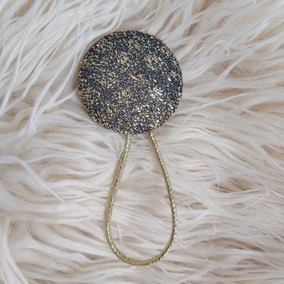 Fekete arany gomb hajgumi