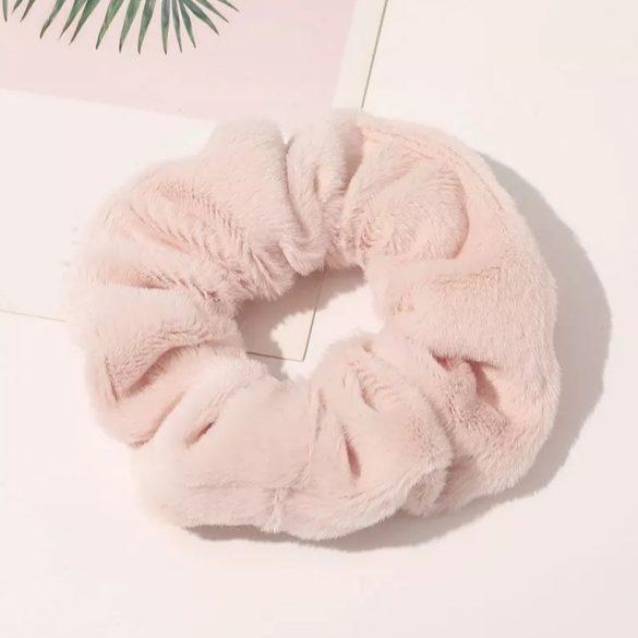 Famingó rózsaszín plüss hajgumi