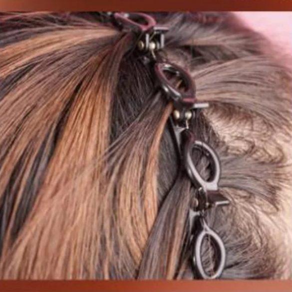 Fekete csatos hajpánt