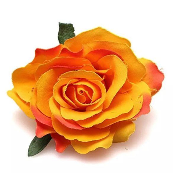 Narancssárga rózsás hajdísz