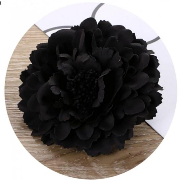 Fekete virágos hajdísz
