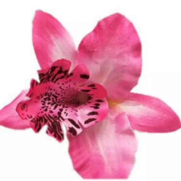 Rózsaszín orchidea hajdísz